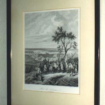 """Gravure """"Prise de Nimègue. 9 Juillet 1672"""" op papier"""