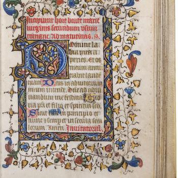 """Getijdenboek """" Horarium"""" handschrift op perkament, circa 1440 - 1460, Brugge"""