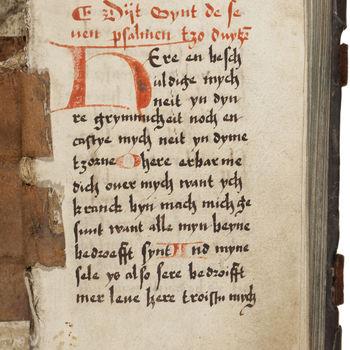 """Gebedenboek """"Justitia"""" handschrift op papier, circa 1530, Keulen?"""
