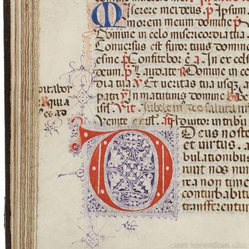 """Getijdenboek """"Psalterium O.F.M"""" handschrift op perkament, circa 1460, Zuid-Duitsland"""