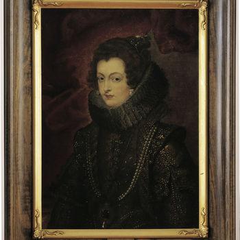"""Portret """"Isabella de Bourbon"""" linnen, kopie naar Peter Paul Rubens door een Nederlands meester, 17e eeuw"""
