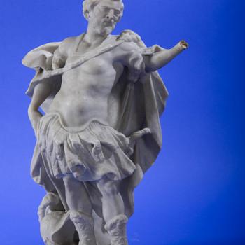 """Beeldhouwwerk """"Keizer Constantijn de Grote"""" marmer, door een onbekende Italiaanse(?) beeldhouwer, 19de eeuw(?)"""