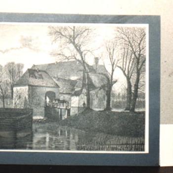 """Boekillustratie """"Poort van Huis Bergh (afgeleid)"""" op papier"""