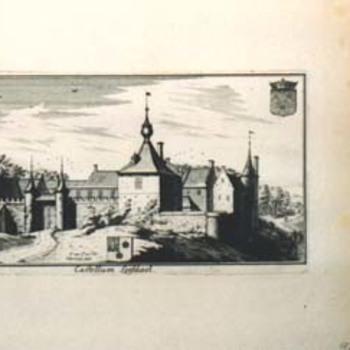 "Gravure ""Castellum Leefdael"" op papier"
