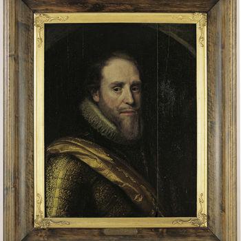 "Portret ""Prins Maurits"" op hout door Michiel van Mierevelt, circa 1615"