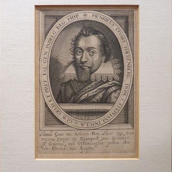 """Portret """"Henrick graven van s Heeren-Berg"""" op papier"""