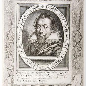 """Portret """"Henrick Grave van s Heeren-Berg"""" op papier"""
