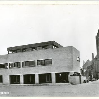 Ansichtkaart van het Dorpshuis in Lobith