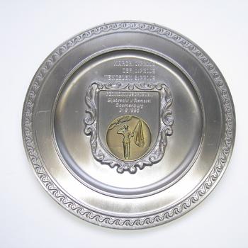 Herinneringsbord Fed. Koningschieten Gijsbrecht van Aemstel Doornenburg 31-8-1986