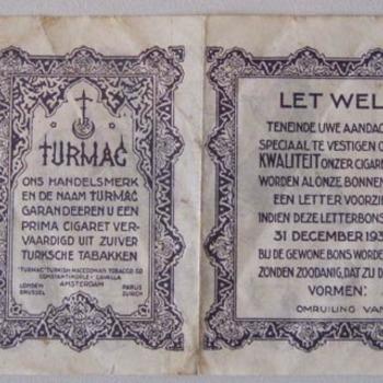 Turmac waardepunt 1930-1931