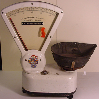 Meetinstrument 'Weegschaal' metaal van Berkel's Patent Mij. te Rotterdam