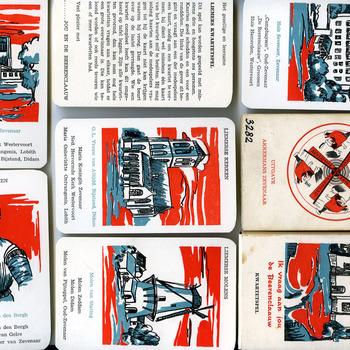 Kwartetspel 'Ik vraag aan jou de Beerenclaauw' van papier, uitgave van 'Liemers Lantaern' te Zevenaar, 1969