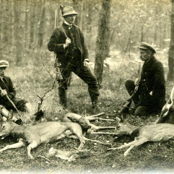 Foto tijdens de jacht op de Bijvank ca. 1925