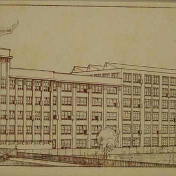 Tekening 'Turmacfabriek' op papier door A.J. Westerman 21 augustus 1933