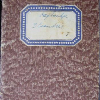 Oorlogsdagboekje 1 van papier van D. Coenders van 8 september t/m 7 oktober 1944