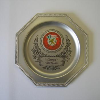 Herinneringsbord van metaal 1e Jeugdvendelen EMM Groessen 1993