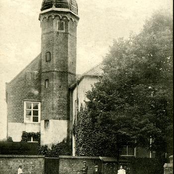 Ansichtkaart met op de beeldzijde Huis De Doelen te Zevenaar circa 1900