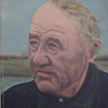Portret van Roelf Bolck circa 1915 olieverf op doek door M.J. Bakker april 1952