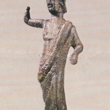 Bronzen beeldje van Minerva, Romeins (2e of 3e eeuw), gevonden op de Kollenburg in Didam ca. 100-300