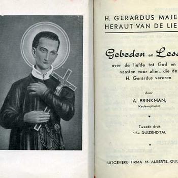 Gebedenboek 'Gebeden en lessen' A. Brinkman, papier en textiel ca. 1950