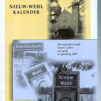 Kalender van papier getiteld Nieuw-Wehl 2005