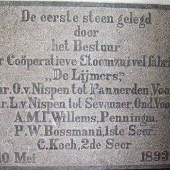 Gevelsteen 'De Zuivelfabriek' Zevenaar 1893