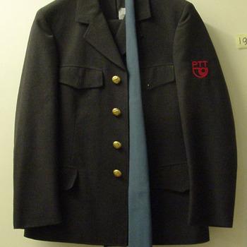 Uniform van de PTT van textiel