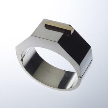 Armband van zilver en goud