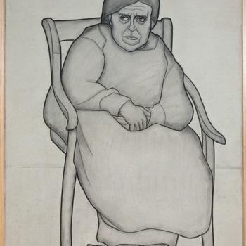 Vrouw met voetenbank
