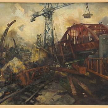 Opbouw van de Rijnbrug te Arnhem