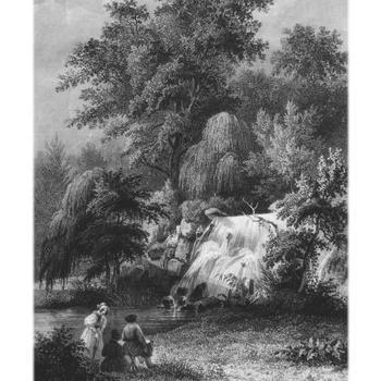 Grote Waterval in het park Sonsbeek te Arnhem