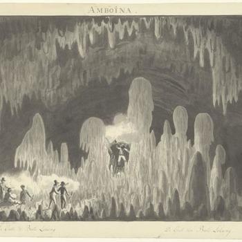 Molukken - Amboina - de grot van Bato Lobang. 1817
