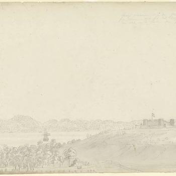 Banda eiland - Bandaneira met het fort Belgica