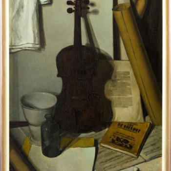 Stilleven met viool
