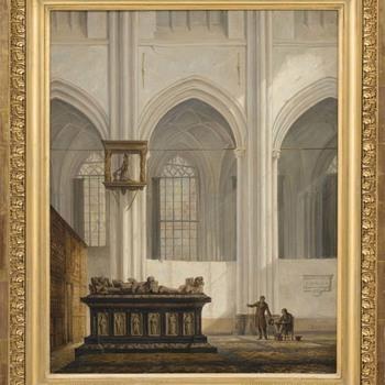 Interieur van de Eusebiuskerk of Grote kerk te Arnhem