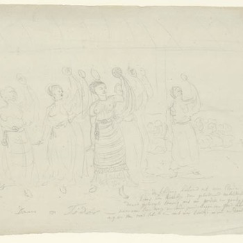 Molukken - Dans op Tidor. 1818