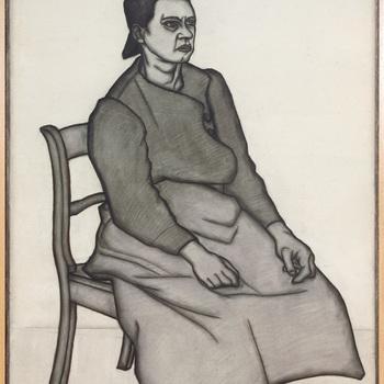 Vrouw met hoog knotje