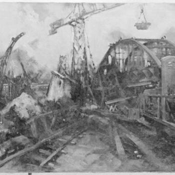 Opbouw van de Rijnbrug te Arnhem, Opbouw van de Rijnbrug te Arnhem, 1946-1947