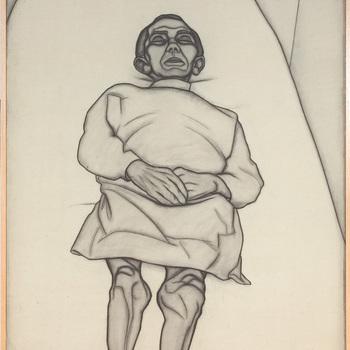 Portret ten voeten uit van een psychiatrische patiënt van de Willem Arntz Stichting in Utrecht, Dode verpleegde