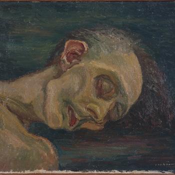 Dodenportret: hoofd van een lijk
