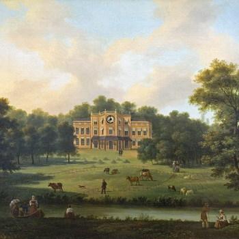 Het huis op de Hartgersberg op het landgoed Sonsbeek te Arnhem