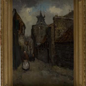 """"""" Straatje te Elburg"""" , Jan Korthals"""