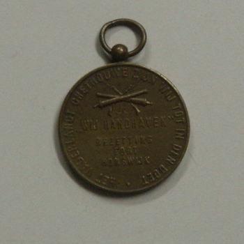 koperen herinneringspenning vervaardigd in 1915