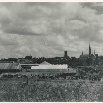 Foto, voorstellende landbouwtentoonstelling, Culemborg, 1931