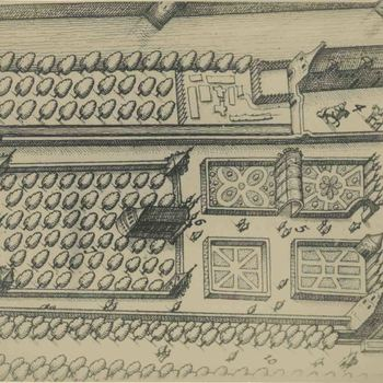 Foto, voorstellende plattegrond kasteeltuin te Culemborg door J. Blaeu