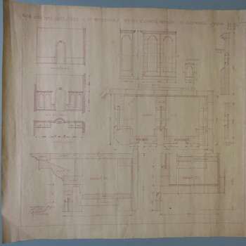tekening met ontwerp  voor kasten in de meisjeskamer van het weeshuis, Th.A. Ausems, Culemborg, januari 1941