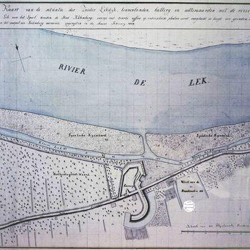Plattegrond, voorstellende de Zuider Lekdijk ,gedateerd 1809.