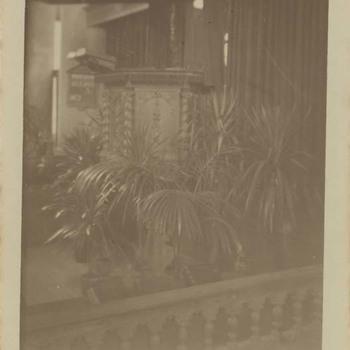 Foto, voorstellende interouer Grote of Barbarakerk te Culemborg, vervaardigd door Wollebrand Prins, 1917