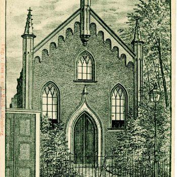 Ansichtkaart, voorstellende de Synagoge te Culemborg, 1900-1905