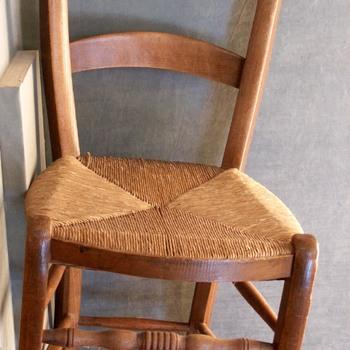 stoel van iepenhout, zgn. Culemborgse stoel, Culemborg, circa 1900
